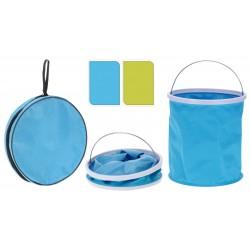 Foldable bucket green & blue (set)