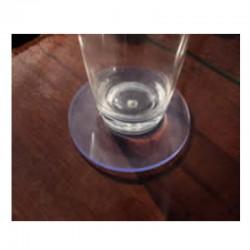 Sous-verres antidérapants transparents