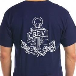 T-shirt Navy - Crew Anker