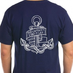 T-shirt Navy - Captain's word is law Anker