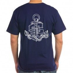 T-shirt Navy - Old Sea Dog Anker