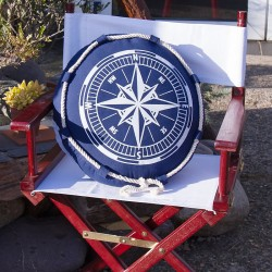 Cushion with Compass Detailing