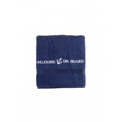Badhanddoek blauw - Welcome On Board