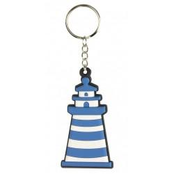 Schlüsselbund Gummi Leuchtturm Blau