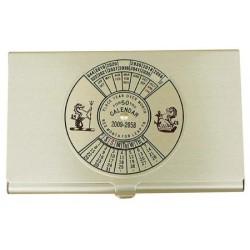 Business card box with tears calendar