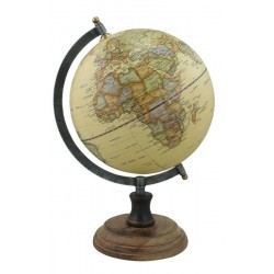 Globe - beige - antiek messing - 20 cm