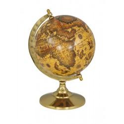 Globe - cream - brass - 15 cm