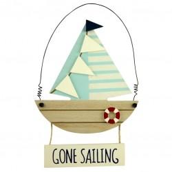 Tekstbord - Gone Sailing