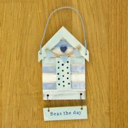 Tekstbord strandhuis - Seas the day