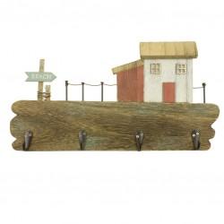 """Coat rack """"Beach"""" with beach house"""