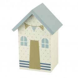 Spardose Strandhaus mit Punkten