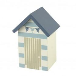 Spaarpot strandhuis met strepen