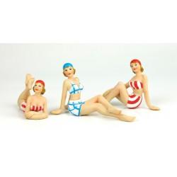 Beach woman - 10 cm (3 assorted)