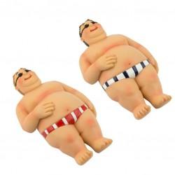Beach man fat sunbathing (2 assorted)