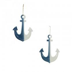 Anchor - blue / white ceramic