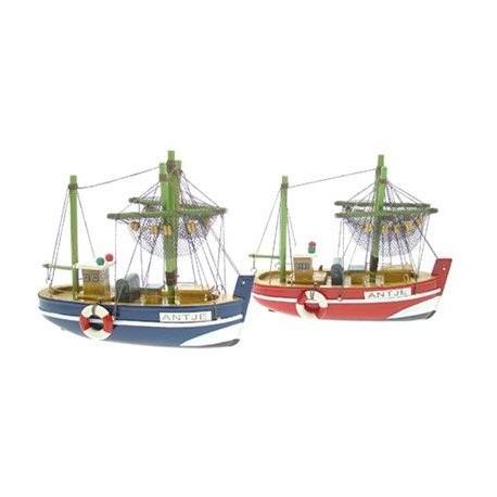 Vissersboot Antje - 16 cm (2 assorti)