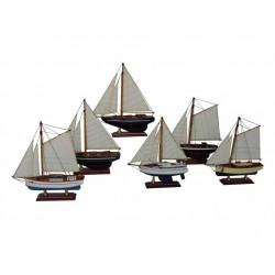 Segelboot - 20 cm (6 sortiert)