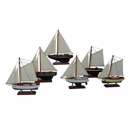 Zeilboot - 20 cm (6 assorti)