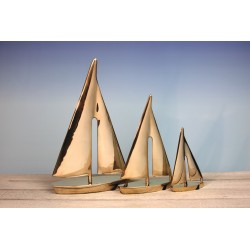 Zeilboot messing - 15 / 28 / 32 cm