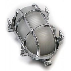 Bulkhead light caged oval chrom