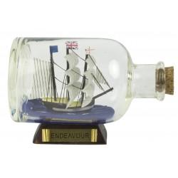 Ship in a bottle Endeavour - 9 cm