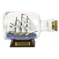 Ship in a bottle Endeavour - 14 cm