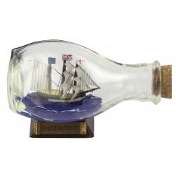Flessenschip Endeavour - bol - 9 cm