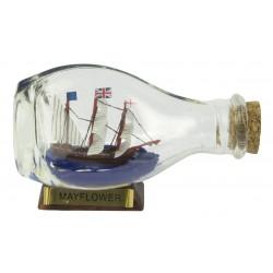 Ship in a bottle Mayflower - sphere - 9 cm