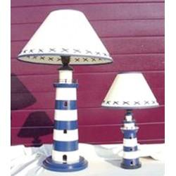 Lampe auf Leuchtturm blau/weiss